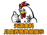 天源禽料月度养殖数据展示